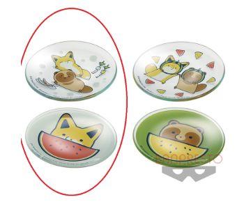 タヌキとキツネ ガラスプレートセット~涼しげな昼さがり~ キツネ