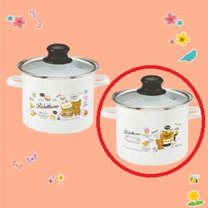 リラックマデリ ホーロー寸胴鍋 パンケーキ