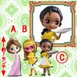 Disney Character Q posket petit -Rapunzel・Honey Lemon・Tiana- C